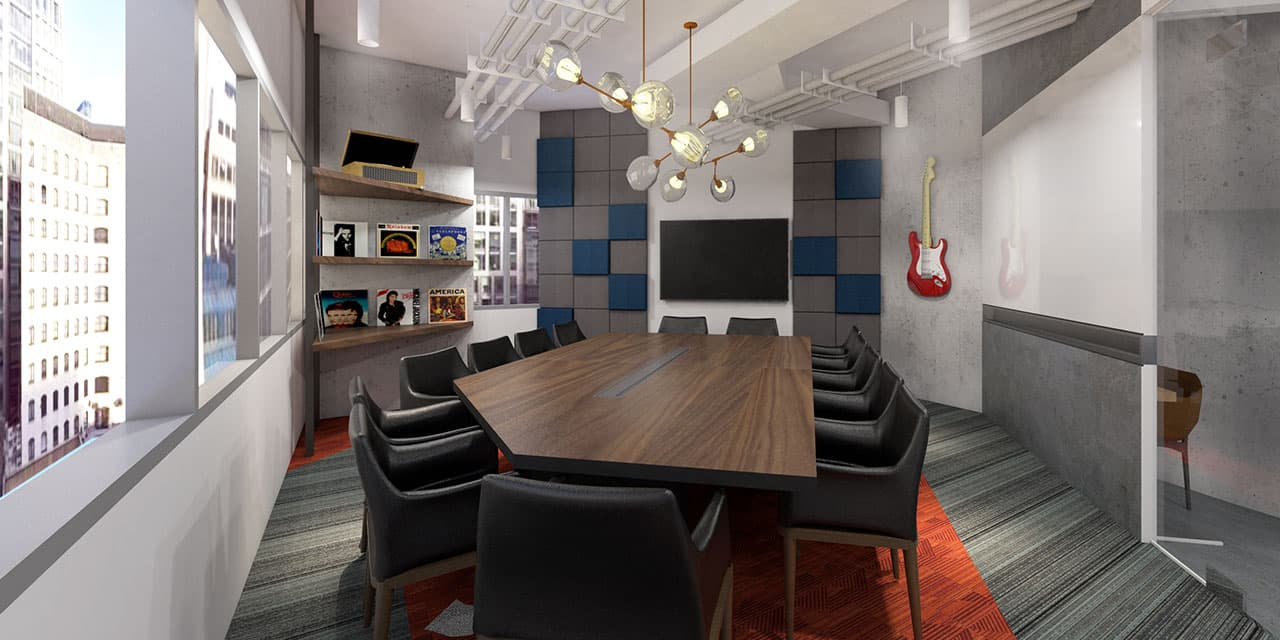 Render Image of the Conference Room in KMC Cyberscape Gamma private office for rent, Mandaluyong - EpicSpace