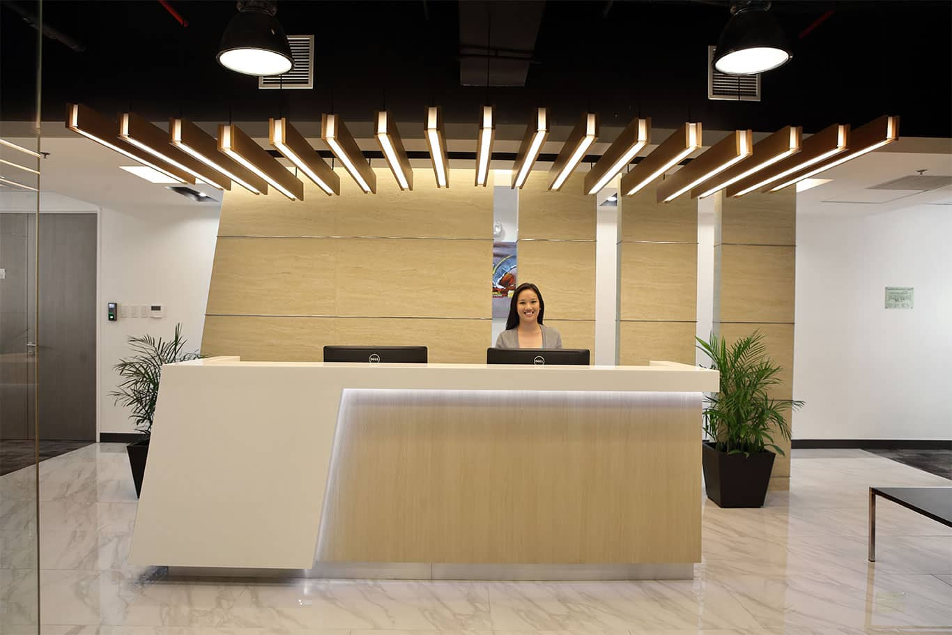 KMC Reception Area at Rockwell Business Center Facility in Ortigas, Pasig, Manila, Philippines - EpicSpace