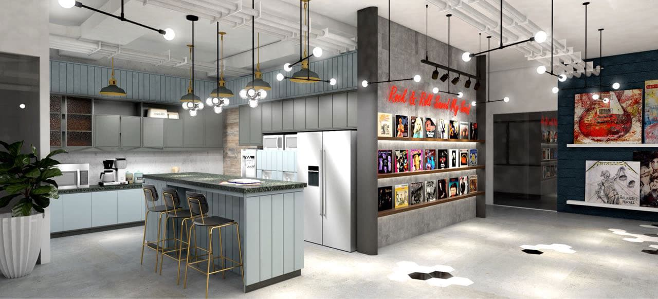 Artist's Illustration of KMC Cyberscape Gamma Pantry Area, Mandaluyong City - EpicSpace